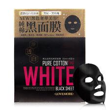 [LOVEMORE] The White Pure Black Cotton Whitening Facial Mask 8pcs/1box NEW