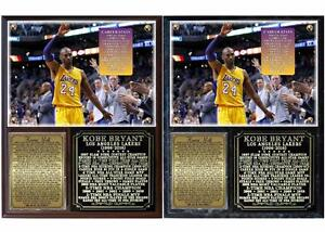 Kobe Bryant 20 Seasons 1996-2016 Career Retirement Photo Plaque LA Lakers