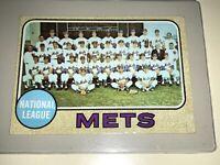 1968 TOPPS BASEBALL NEW YORK METS TEAM TC CARD NOLAN RYAN TOM SEAVER  401 Ex/Ex