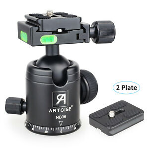 NB36 Ball Head Tripod Head Panoramic CNC for DSLR Camera & 2 Quick Release Plate