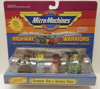 Micro Machines Highway Warriors Set w/Snap-On Armor - Rammin Rig & Terror Tank