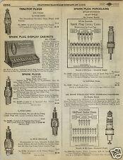 1923 PAPER AD Splitdorf Myles Standish Store Display Cabinet Spark Plugs Tractor