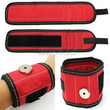 13.8'' Magnetic Wristband Wrist Band Tool Kit Set Red Belt Bracelet With Screw