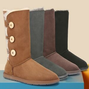 【ON SALE】UGG Classic Tall Button Boots Water Resistant Premium Australian Sheeps