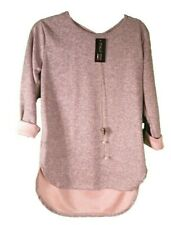 Italy Moda Dusty Pink Jumper NEW WARM M/L COME WITH necklace