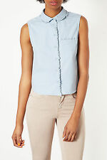 Topshop Waist Length Casual Shirts for Women