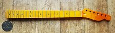 Tele Telecaster Maple Electric Guitar Neck Vintage Gloss 22 Fret Skunk Stripe