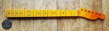 Tele Telecaster Maple Electric Guitar Neck Vintage Gloss 22 Fret Skunk Stripe