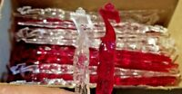 Lot of 48 Swizzle Stick Stirrers Seagram's 7 Crown Vintage Red & Clear Icicles
