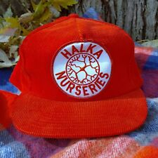 a1aec8640ba VTG Halka Nurseries Red CORDUROY Hat Snapback Cap Tree New Jersey 80s 90s  Nature