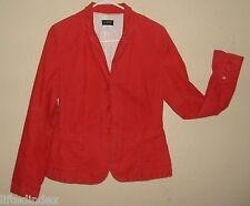 New Womens Size M J. CREW 3 Button Corduroy Cotton Blazer Jacket Melon Red Lined