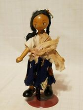 "Vintage 7-3/8"" Wood Doll with movable joints"