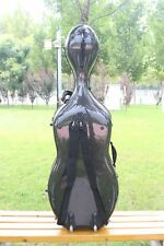 Black 4/4 cello case Mixed Carbon Fiber Cello Box 3.6kg With Two wheels Strong
