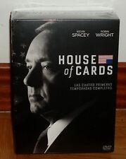 HOUSE OF CARDS 1-4 TEMPORADAS COMPLETAS 16 DVD NUEVO PRECINTADO (SIN ABRIR) R2