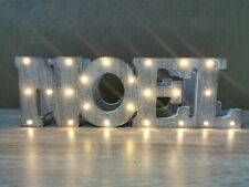 Lights4fun Battery Operated LED Wooden Noel Sign Light
