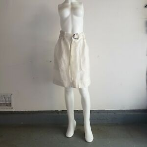 Dries van Noten Vintage Japanese Inside Out Cream White Ivory Button Skirt