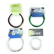 18 Gauge Aluminum Wire Copper Green and Silver for Jewelry Making and Crafts New