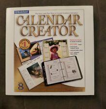 Broderbund Calendar Creator Version 8 2001  CD