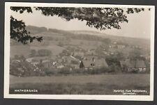 Postcard Hathersage near Castleton Derbyshire posted 1953 RP