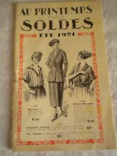 Vintage Catalogue 1921 ladies clothes + textiles Au Printemps paris art deco