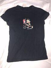 Retro Junior XS Paul Frank T-Shirt Black Monkey Breaks Guitar 🎸 Almost Vintage