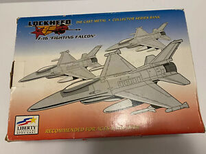 F-16 Fighting Falcon Die Cast Metal Collectors Series Coin Bank Lockheed