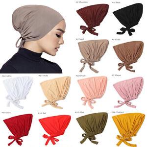 Muslim Turban Cap Elastic Bottom Cap Women Hijab Adjustable Chemo Hat Head Cover