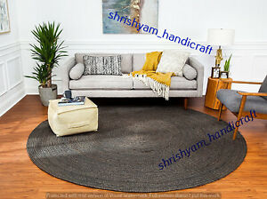 Natural Jute Rug Round Area Rug Home Decor Floor Carpet Hand Woven Yoga Mat Rugs