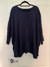 Cos Navy Blue Oversized Blouse Top Size Eu 44 UK 16