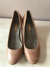Ecco Size EUR 37 US 6 6.5 Brown Leather Pumps Womens Shoes