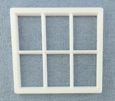 Melody Jane Dolls House White Plastic Georgian Window Frame 6 Pane Miniature DIY