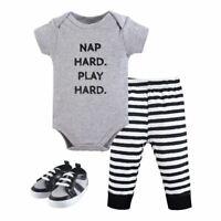 Little Treasure Bodysuit, Pant and Shoes, 3-Piece Set, Nap Hard