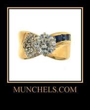 14K Yellow Gold Cubic Zirconia & Sapphire Ring
