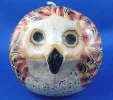 Retro Handcrafted MULTI-COLOURED Owl Candle Small never used - in Australia