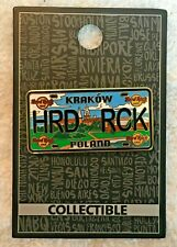 Hard Rock Cafe Krakow License Plate Series