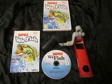 WII : RAPALA WE FISH + CANNA DA PESCA - Completo, ITA ! Compatibile con Wii U