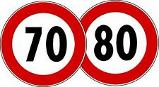 Contrassegno Limite Velocità 70 e 80 km/h Omologati EU rifrangenti materiale 3M
