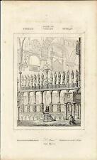Stampa antica VENEZIA Altare Basilica di San Marco 1845 Old antique print VENICE
