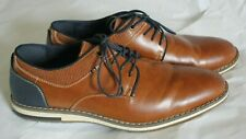 Freeman Morgan Men's Oxford Derby Shoes Brown and Blue, Size 10.5 W Wide