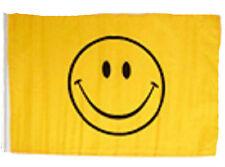 """12x18 12""""x18"""" Smiley Face Yellow Sleeve Flag Boat Car Garden"""