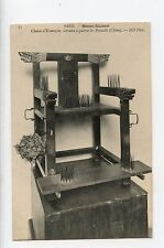 Chinese Bed of Nails Chair  Post Card VERY RARE