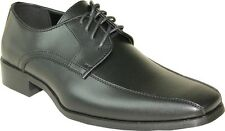 VANGELO/TUX-5 Wrinkle Free Mens Dress Shoes Bicycle Toe Black Matte Size 10W