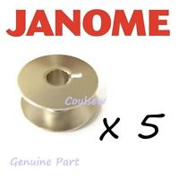 JANOME GENUINE METAL BOBBINS x 5 To Fit 1600P MB4 MB-4 BOBBIN