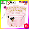 20 Pack Girl Pink and Gold Heart Baby Shower Invitation Cute with Envelopes Niña