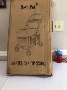 Best Pet 4 Wheels Cat Dog Cage Jogging Stroller Travel Folding Carrier Safe Pink