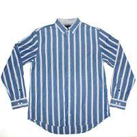 17 TO 22 TOMMY HILFIGER BLUE WHITE 100/% COTTON SHIRT SIZES XL XXL 3XL 4XL NWT