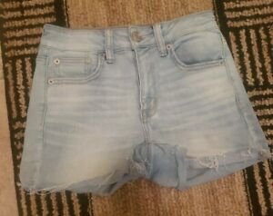 American Eagle Outfitters High Rise  Shortie Denim Cut Off Shorts 2