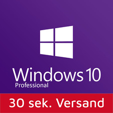 Windows 10 Professional 32-64 bit sp1 tedesco versione completa OEM WIN 10 Pro WOW