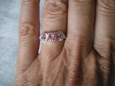 Pink Sapphire ring, size N/O, 1.34 carats, in 2.07 grams of 925 Sterling Silver
