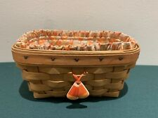 New ListingLongaberger 1999 Candy Corn Basket W/ Liner